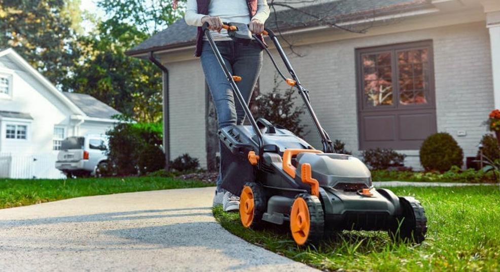 quiet lawn mower