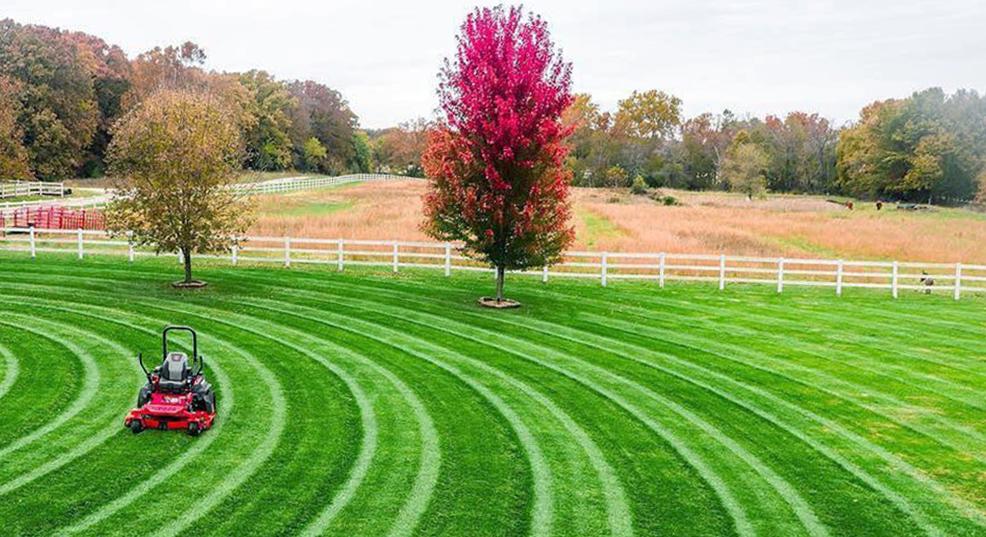 lawn mowing patterns techniques
