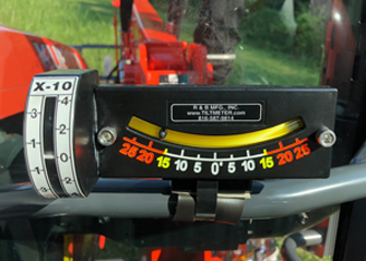 using clinometer when mowing