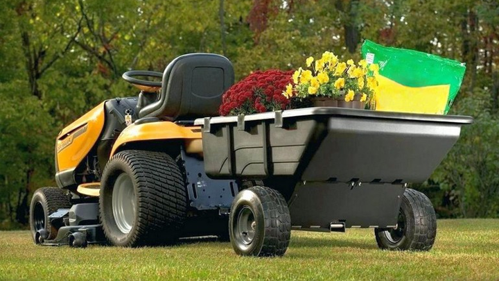 damp cart for lawn tractor