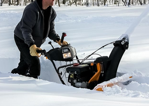 using snow blower in deep snow