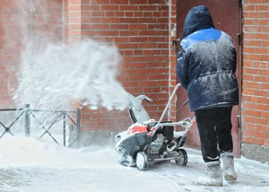 using heavy duty snow blower