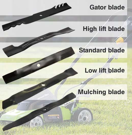 lawnmower blades types