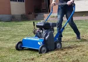 using power rake
