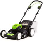 self propelled mower with battery included