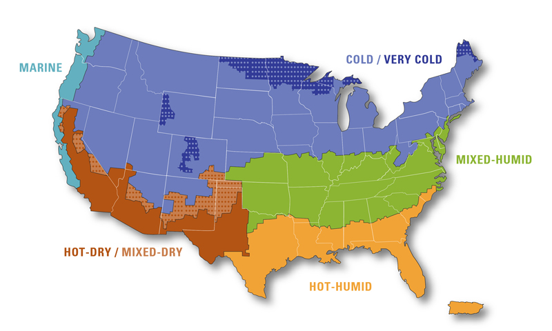 what are the climate zones in usa